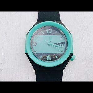 Teal + Black NEFF Watch.